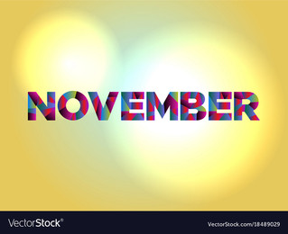 November - No more Delay!