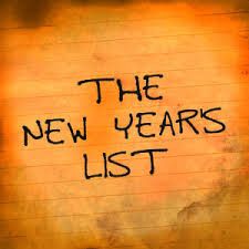 A NEW YEAR'S LIST WITH A DIFFERENCE