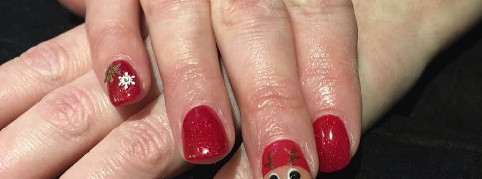 Christmas nails by Claire at Harringtons