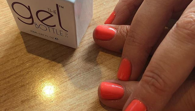 Gel polish manicure at Harringtons