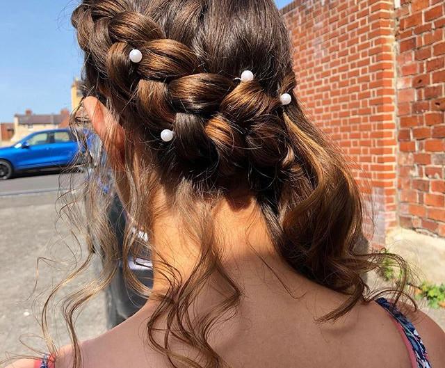 Hair up by Kelly at Harringtons