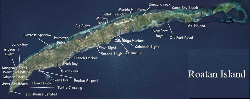 Mapa de Roatan