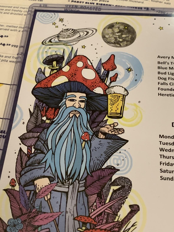mellow mushroom menu artwork beer wizard