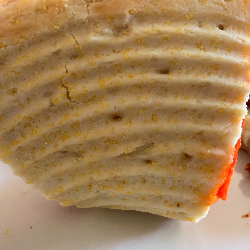 cornmeal crust bottom of outsiders pizza