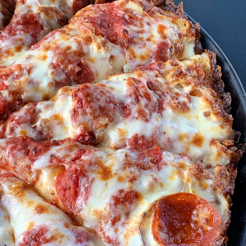 Deep dish pizza central indiana