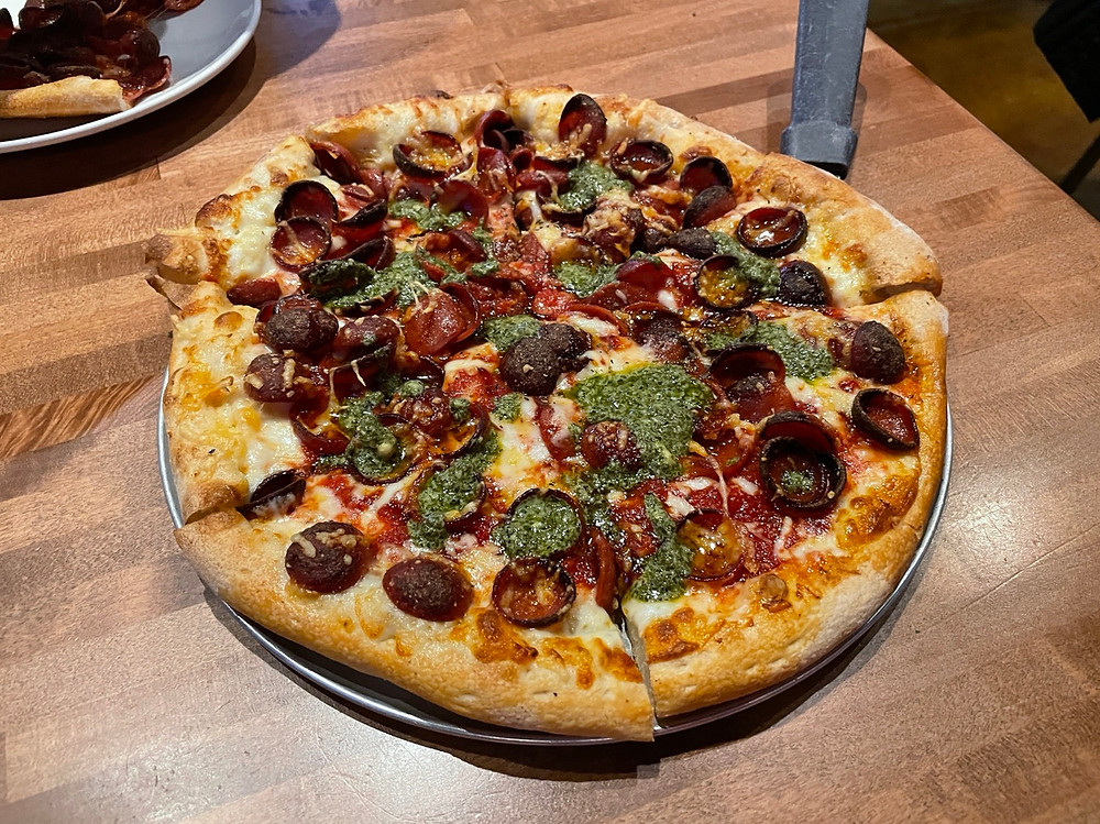 pepperoni hot honey pizza crafters in carmel