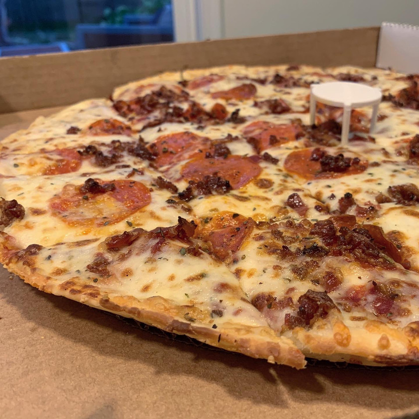 aurelios thin crust pepperoni bacon