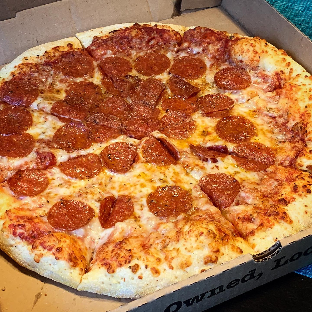 hot box pepperoni pizza photo indiana