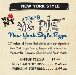 clip of boombozz menu tonys big pie