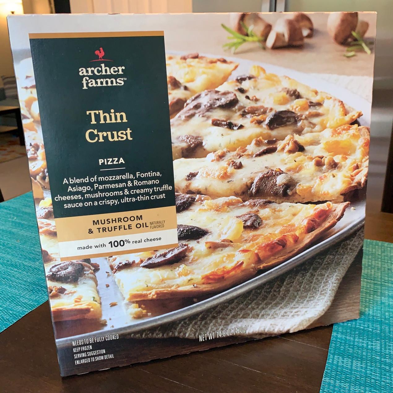 archer farms mushroom truffle oil frozen pizza