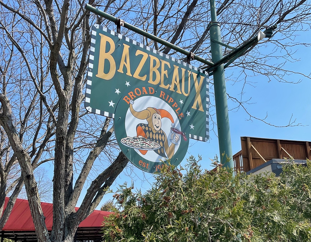 bazbeaux sign in broad ripple