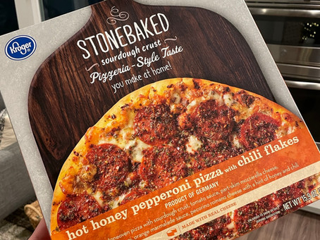 Kroger Hot Honey Pepperoni Frozen Pizza with Chili Flakes