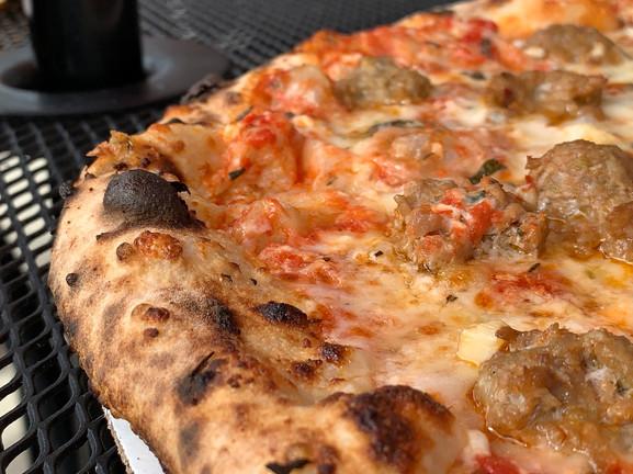 close up of king dough crust