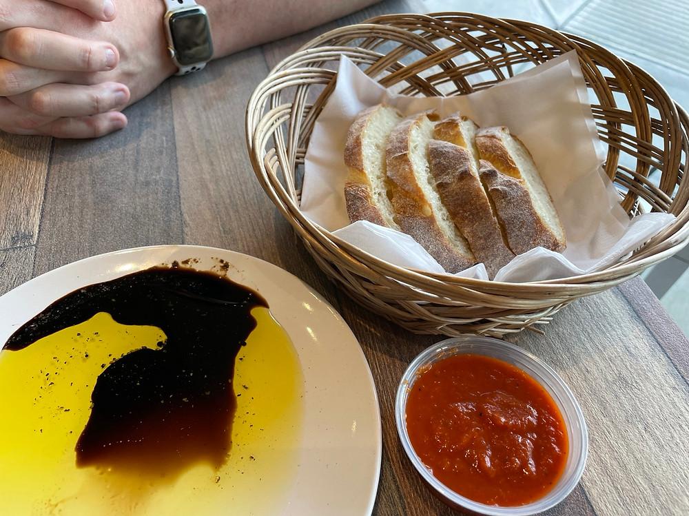 I Tre Mori in Fishers bread and olive oil