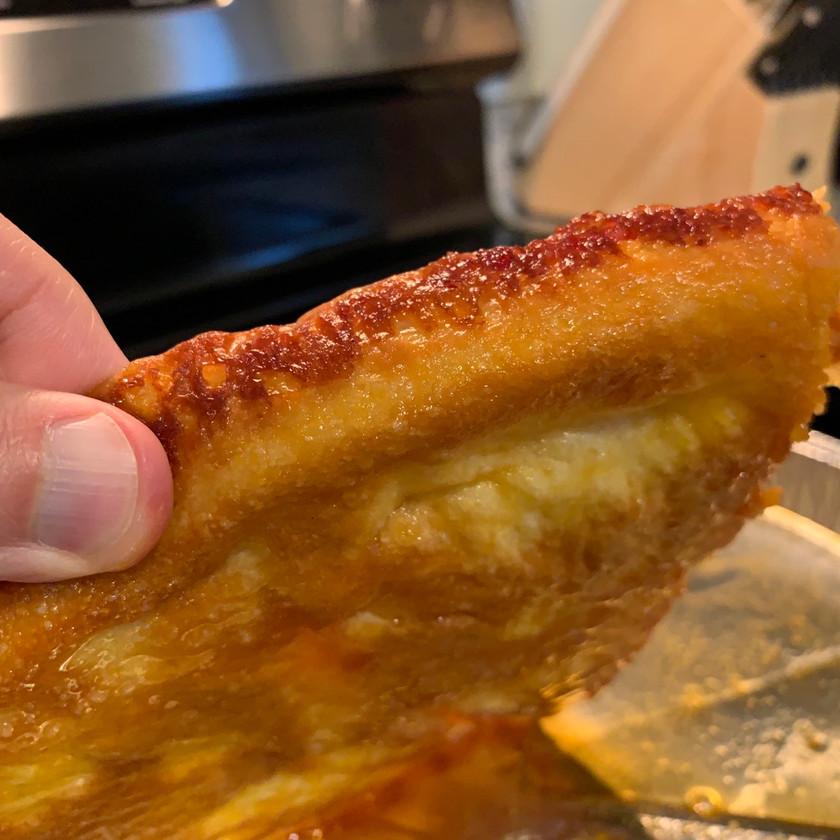 crust and edge from papa murphy pan