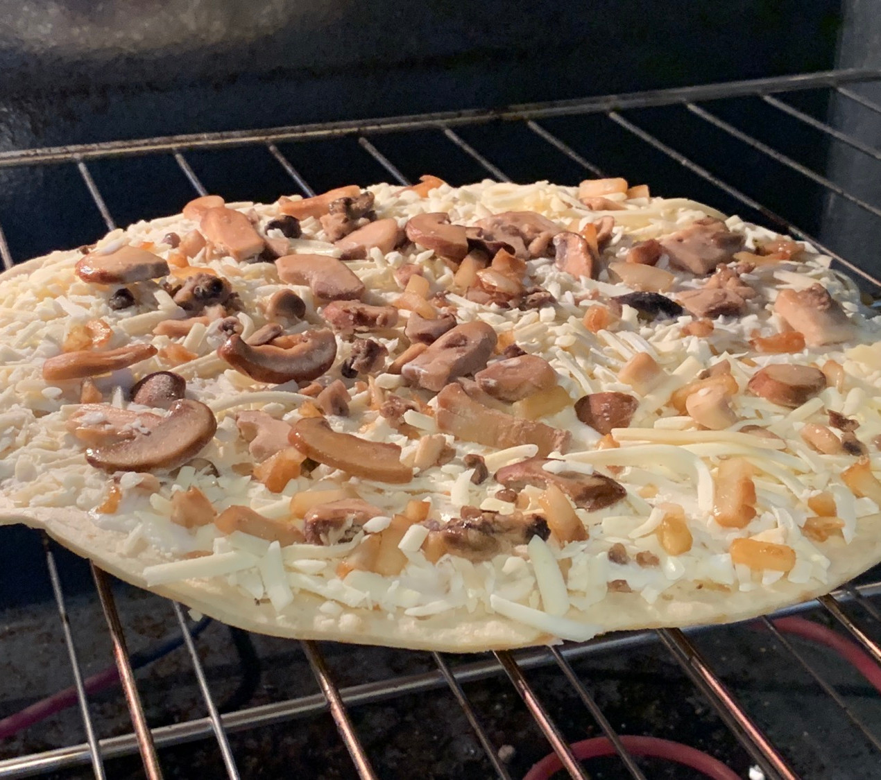 in the oven mushroom archer farms frozen pizza