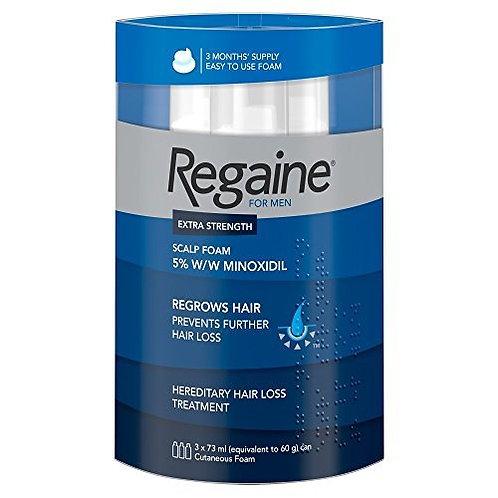 Regaine For Men Hair Regrowth Foam, 73 ml - Triple Pack