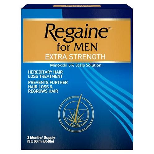 Regaine For Men Extra Strength Solution, 60 ml - Triple Pack