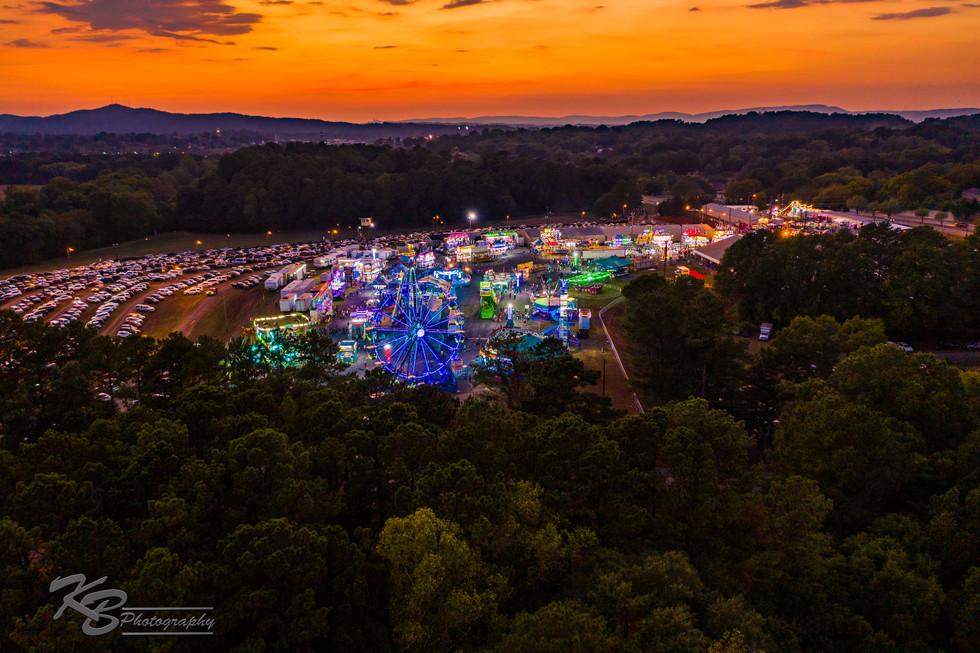 Coosa Valley Fair at Sunset