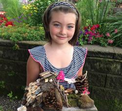 Beans & Greens Farm - fairyhouse happy girl
