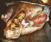 Beans & Greens Farm - turkey in oven.jpg