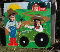 Beans & Greens Farm - farmstand kids cutout