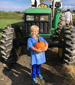 Beans & Greens Farm - Kid pumpkin tracto