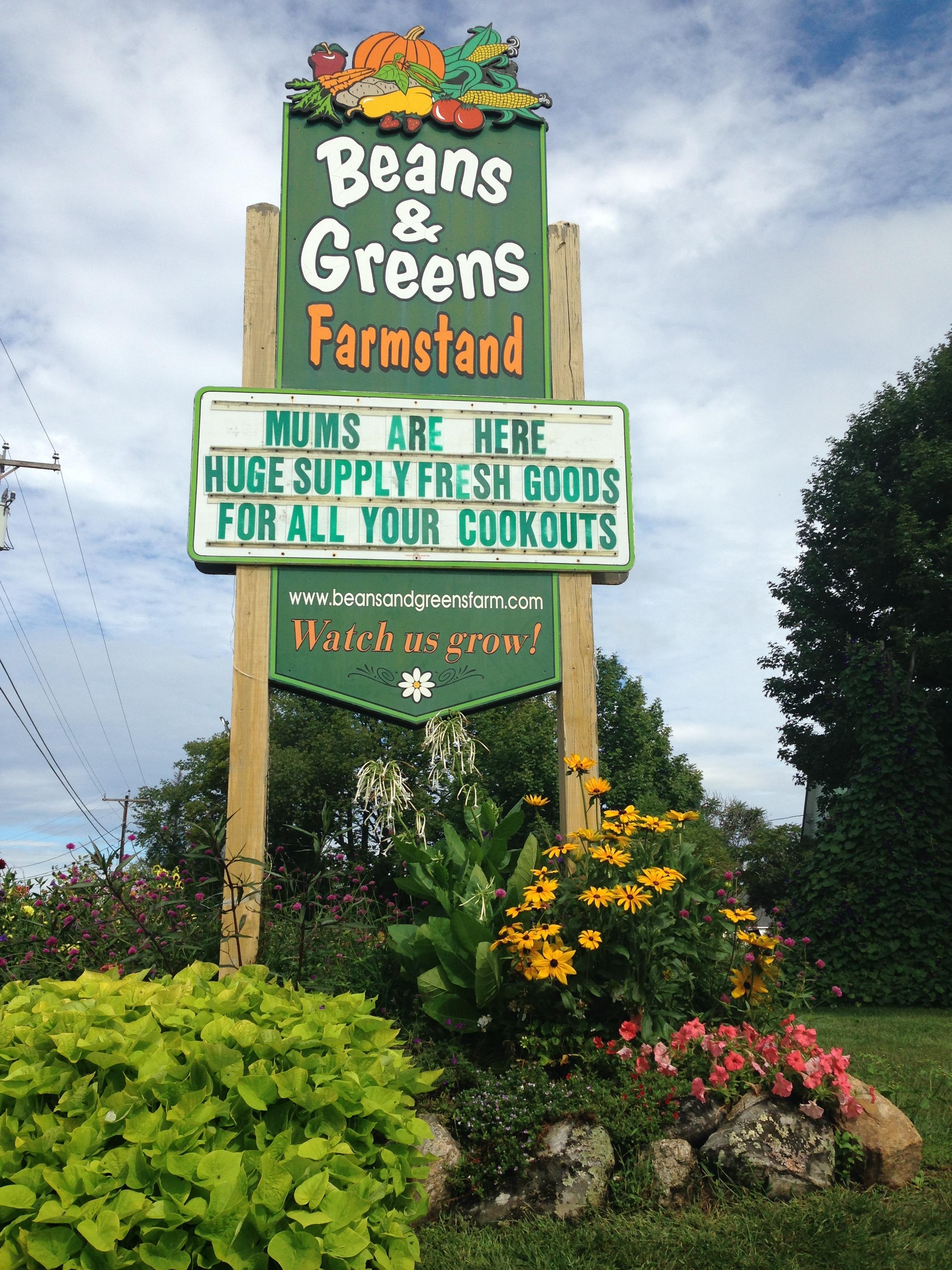 Beans & Greens Farm - farmstand front si