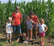 Beans & Greens Farm - cornmaze happy fam