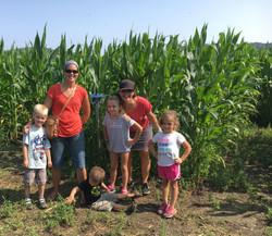 Beans & Greens Farm - cornmaze happy family