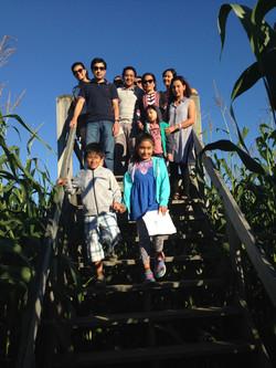 Beans & Greens Farm - cornmaze family bridge