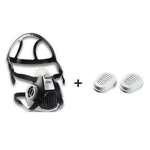 Drager X-Plore 3300 Yarım Yüz Gaz Maskesi + 6738011 P3 Filtre