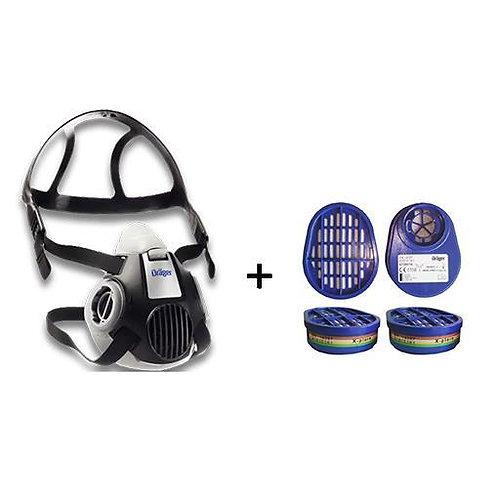 Drager X-Plore 3300 Yarım Yüz Gaz Maskesi + 6738816 A1B1E1K1 Filtre