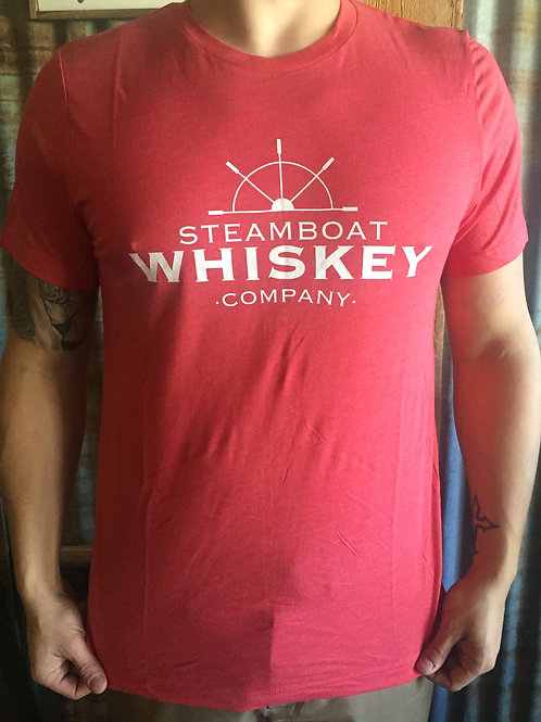Men's Red T Shirt, Paddlewheel