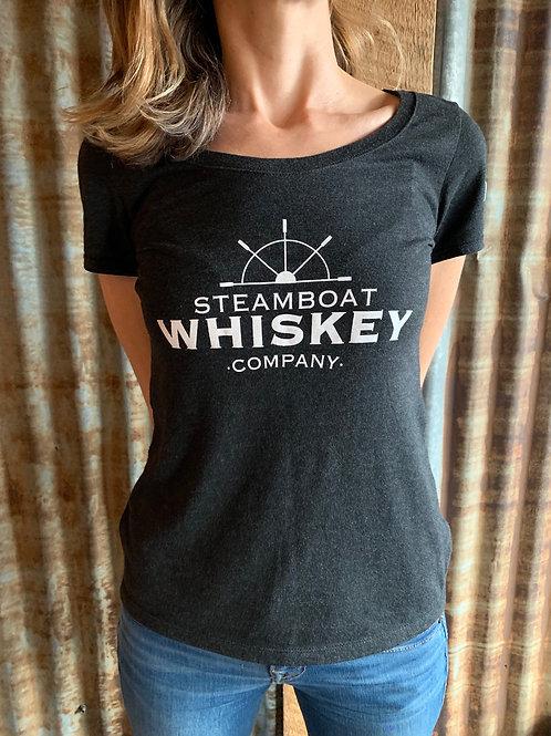 Women's Whiskey Warrior T-Shirt-Black