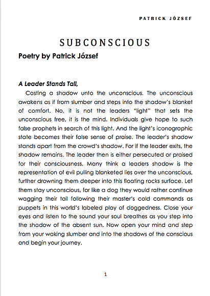 It's Never Too Late To Be Famous writen by Patrick József