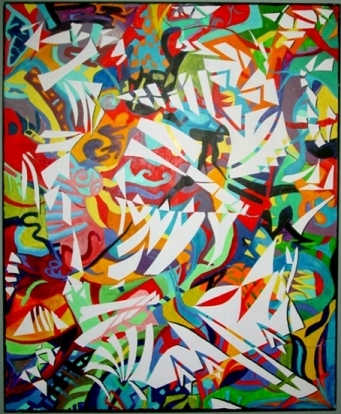 For Sale Medium: Acrylic on Canvas Dimensions: 5x6ft