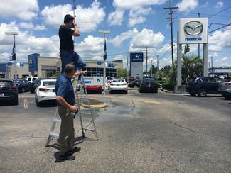 Working hard shooting Video for Bill Hood Import Corner in Louisiana