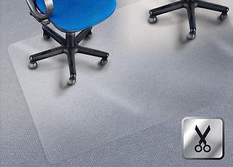 Zuschnitte Bodenschutzmatten aus Polycarbonat für Teppichboden