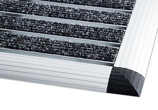 Fußmatte aus Aluminium, Grobfaser-Rips