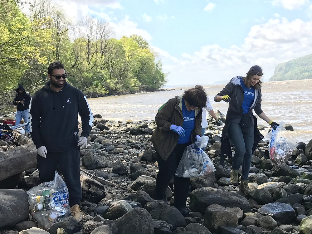 Riverkeeper Sweep at Croton Point with Ferry Sloops