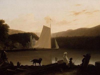 J. G. Clonney (1812-1867), Hudson River Sloop near Peekskill, NY