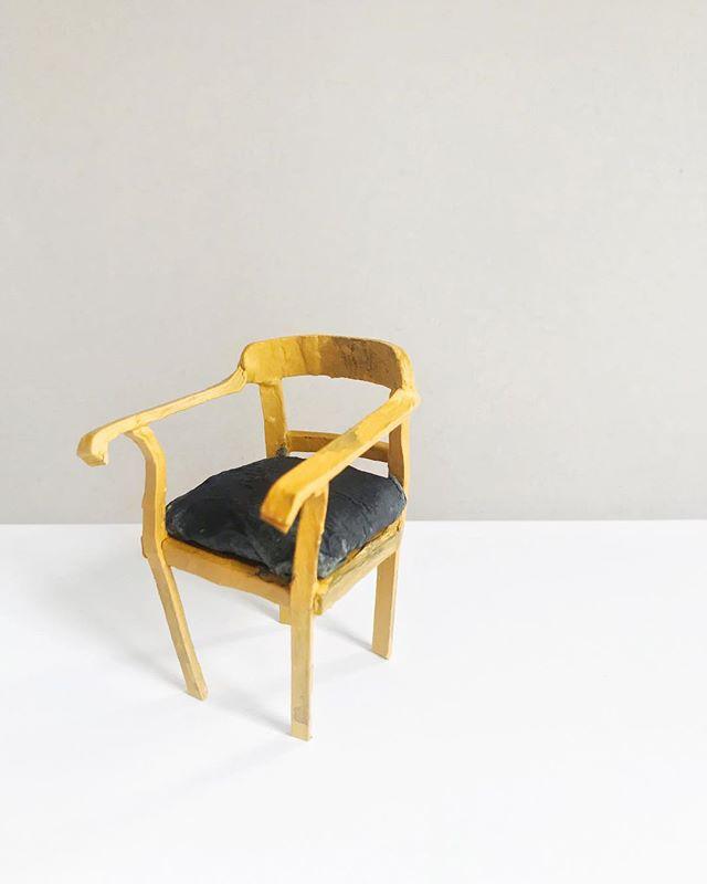 Armrest chair, 2019, cardboard