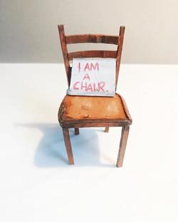 """""""I am a chair, 2019, cardboard."""