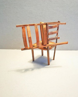 Chairs (relationship), mixed media, 2019