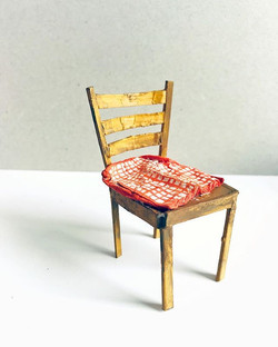 """""""Chair with pillow, 2019, cardboard, 8x4"""