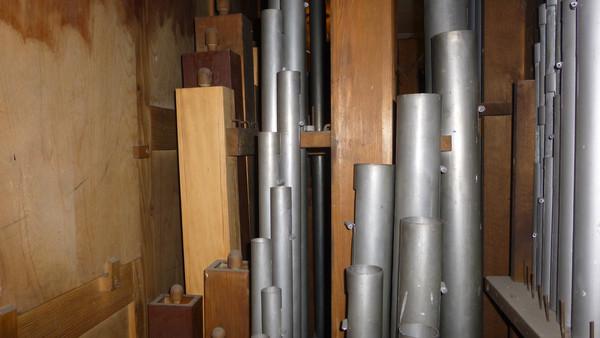 Un tuyau reconstruit à l'identique du Gedeckt 8'