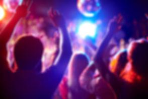 Dança no clube de noite