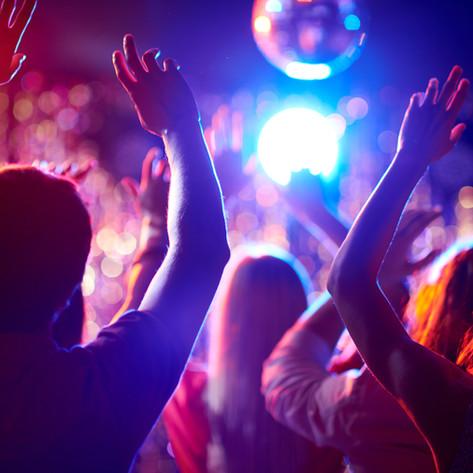 Dancing in night club