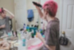 Shaving Hair, Self-Portrait.jpg